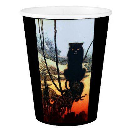 Into A Cat Paper Cup - halloween decor diy cyo personalize unique