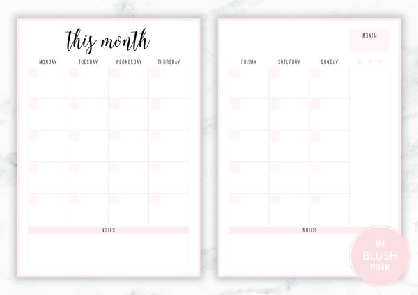 Free Printable Irma Monthly Planners Planner Printables Free