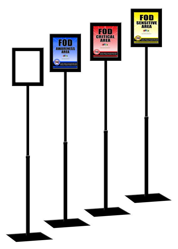 fod frame 11x14 metal sign frame display stand displays durable fixed pole is - Metal Sign Frames