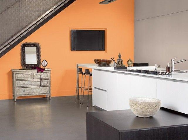 cuisine color e d couvrez toutes nos inspirations elle d coration murs oranges orange et mur. Black Bedroom Furniture Sets. Home Design Ideas