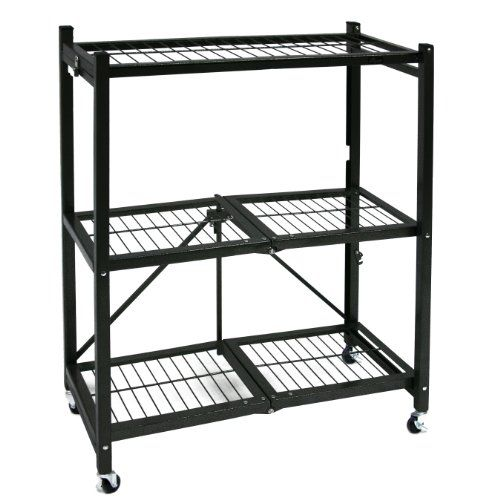 Origami General Purpose Steel Storage Rack With Wheels 3 Shelf