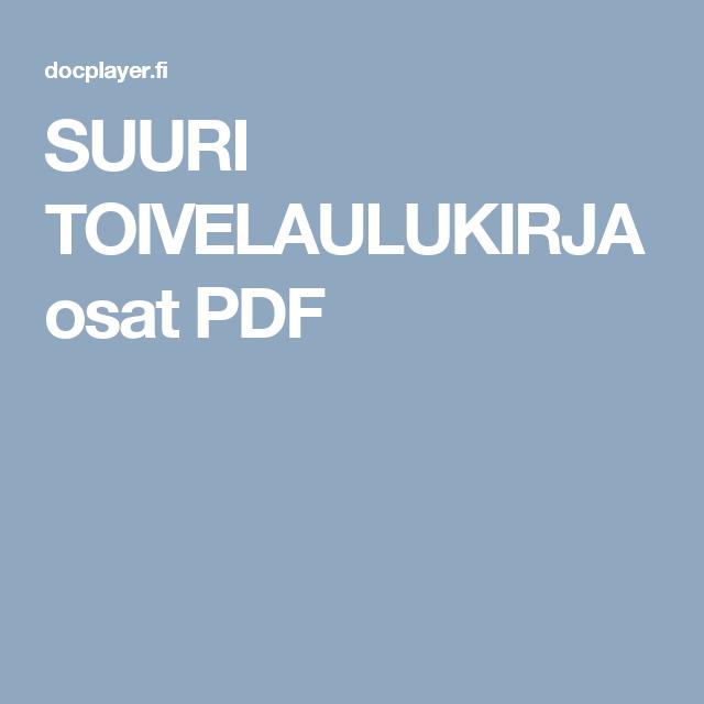 SUURI TOIVELAULUKIRJA osat PDF
