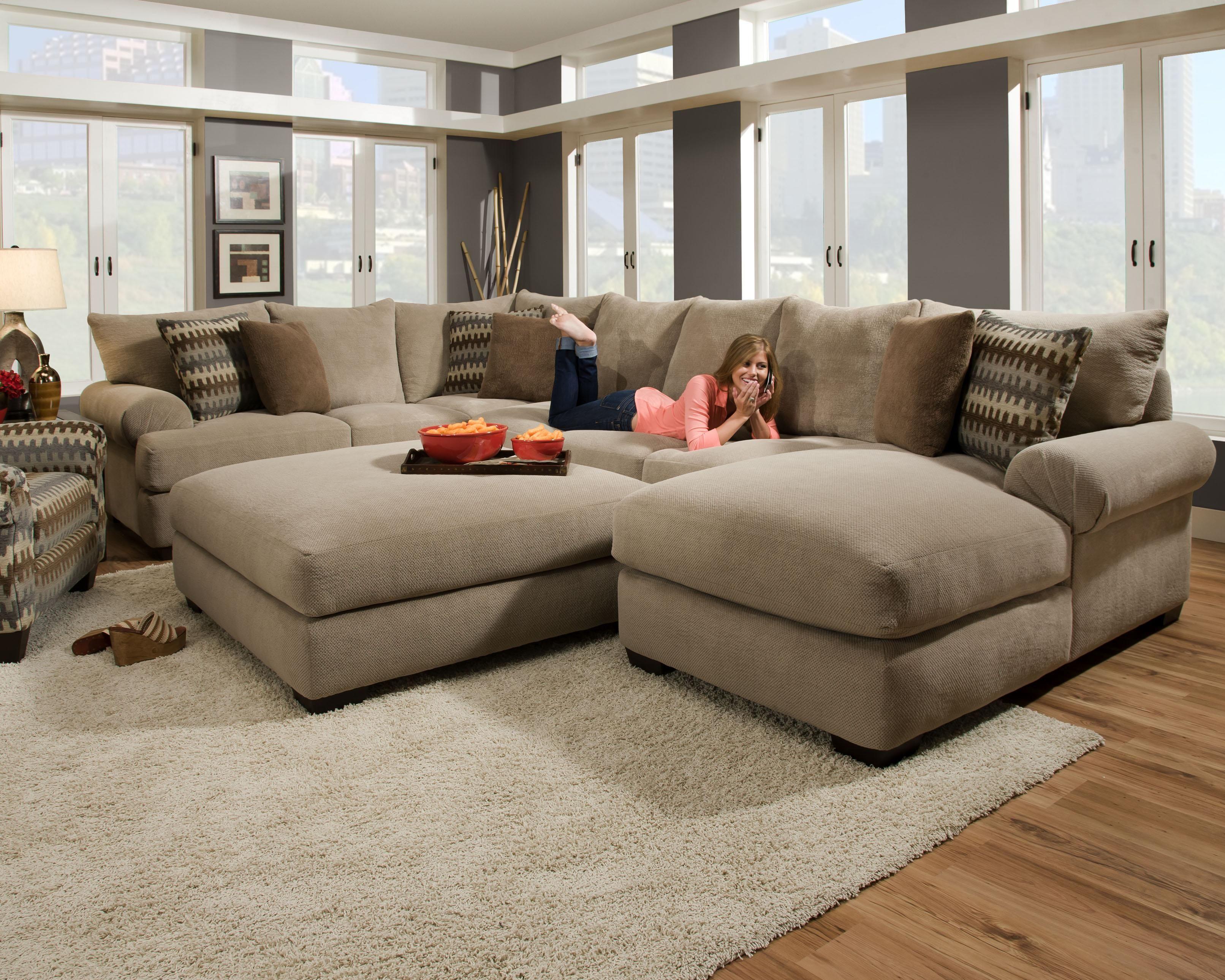 Large Sectional Sofa With Ottoman Comfortable Sectional Sofa