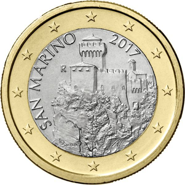 San Marino 1 Coins Currency Paper Money Platinum Silver