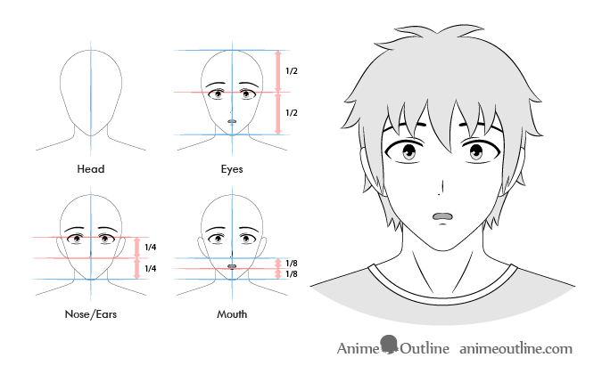 Pin By Esra Degirmenci On Tekenen In 2020 Anime Expressions Facial Expressions Anime Guys