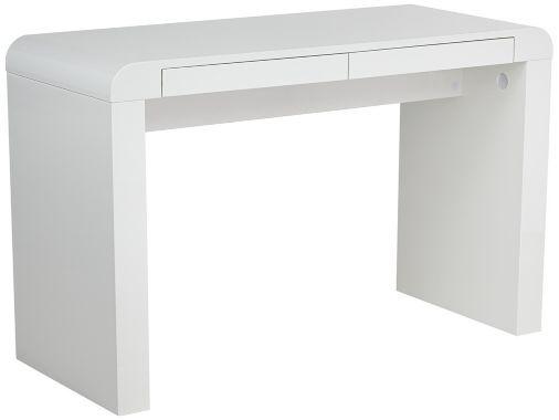Contemporary Delphi Modern White 30-Inch-H Desk | White ...