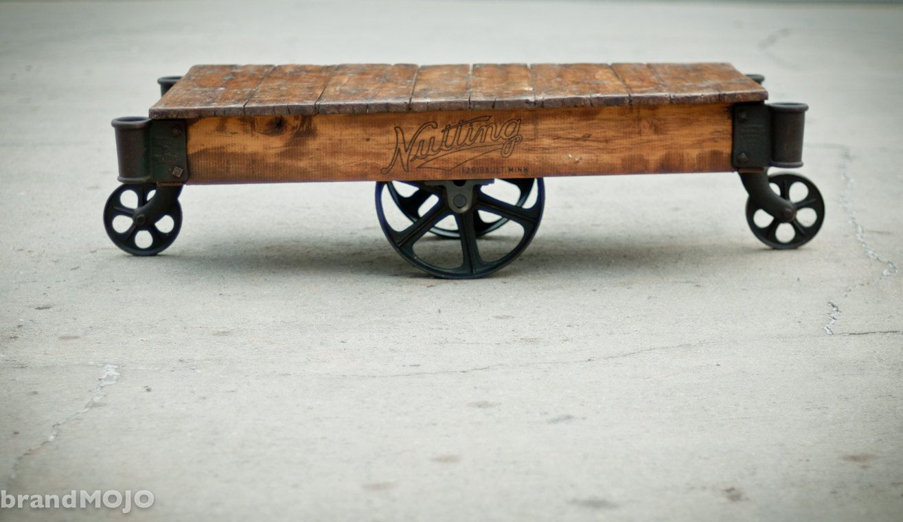 through 11/5/11 - Vintage Industrial Furniture Factory Cart Coffee ...