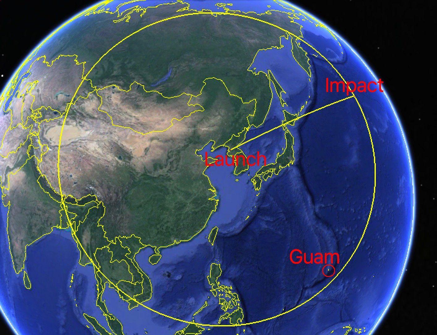 NorthKorea's missile landed 2.000 km east of Hokkaido