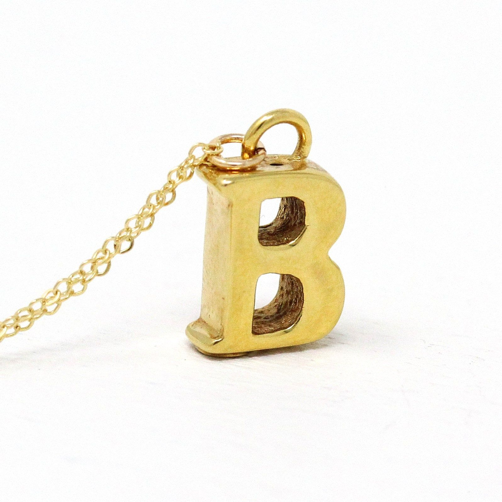 Letter A Fob Charms 4 pcs 14K Gold Plated