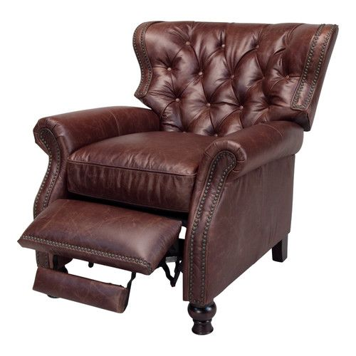 Chad's leather recliner with the style I like: Opulence Home Cambridge  Recliner & Reviews  