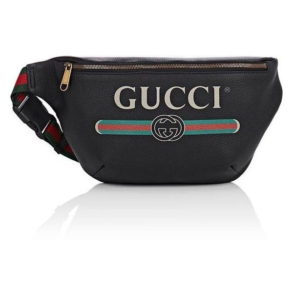 d0e0fefbb9a9 Gucci Men's Logo Belt Bag ($1,290) ❤ liked on Polyvore featuring men's  fashion, men's bags, black, mens fanny pack, mens bum bag, mens bag, mens  belt bag ...
