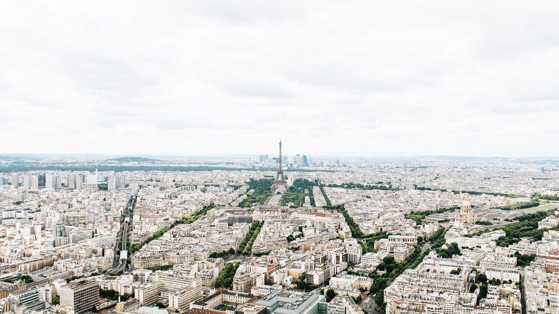 Eiffel Tower Paris view from Montparnasse Tower