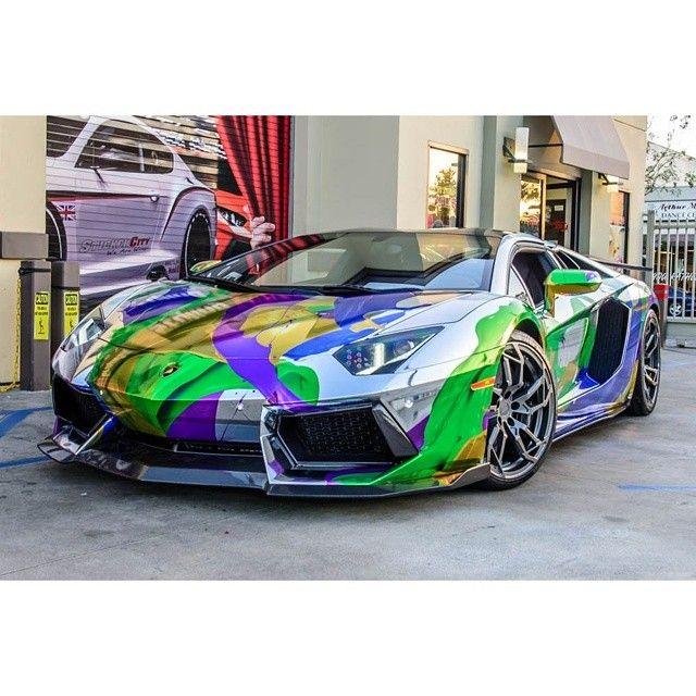Holographic Multi Color Chrome Lamborghini Aventador