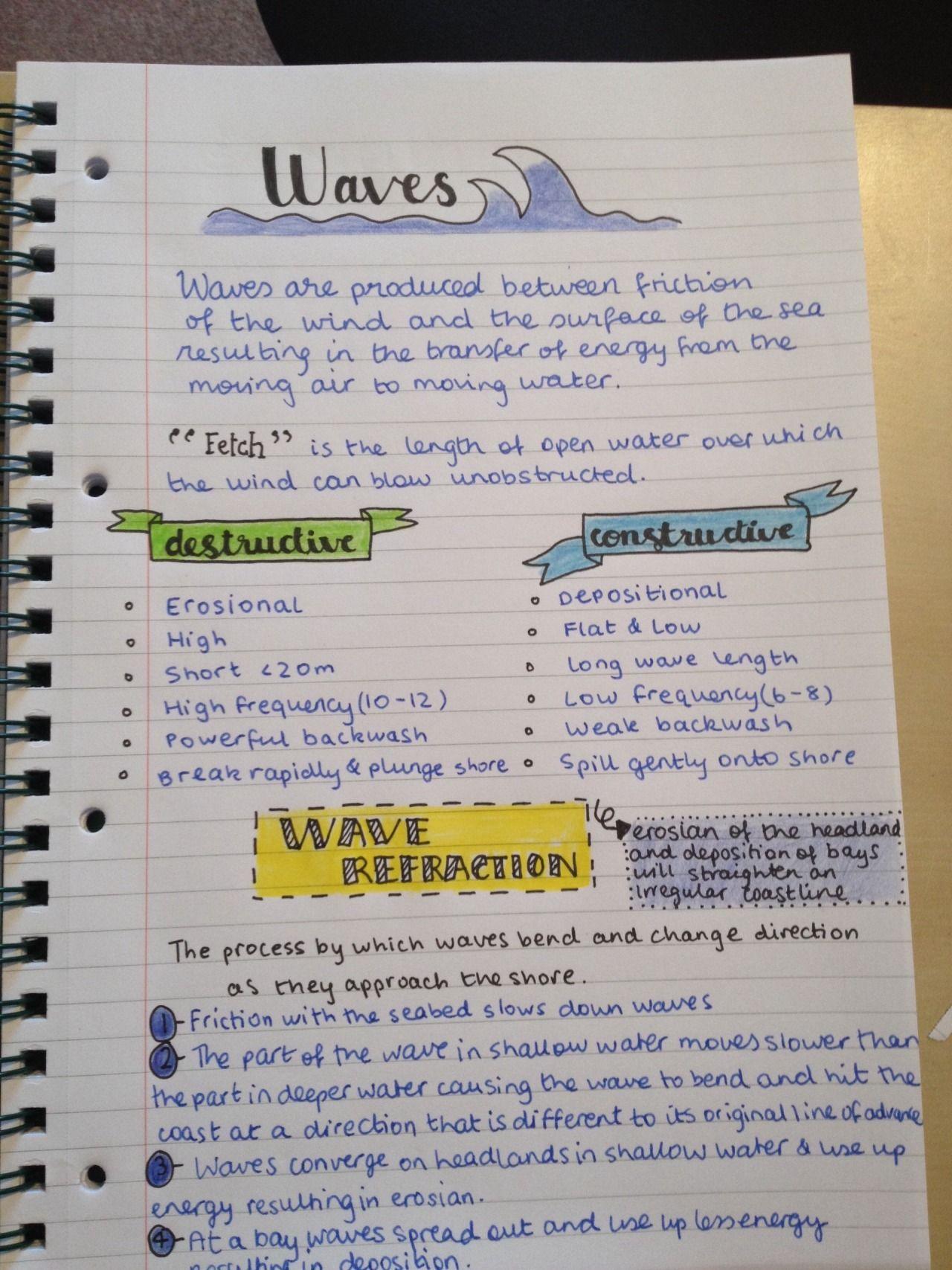 Megan's Studyblr — Geography Coastal Processes Notes on