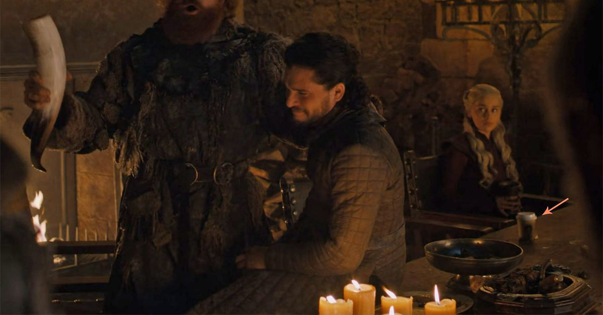 Games of Thrones' accidentally leaves coffee cup in episode