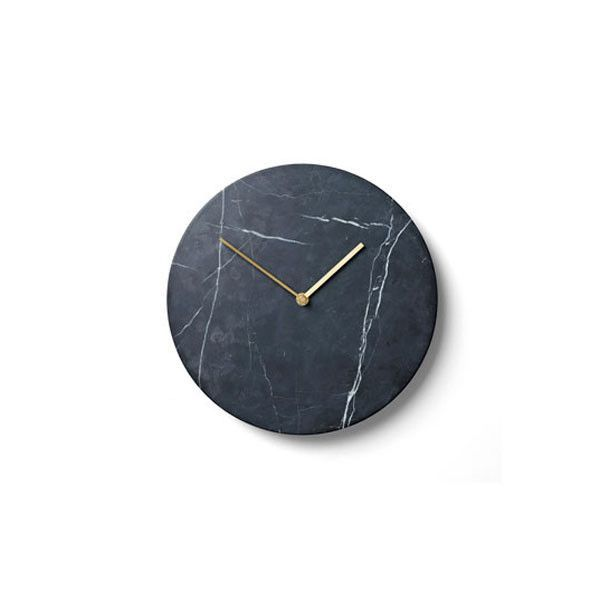 Black Marble Clock By Norm Architects For Menu Marble Clock Black Wall Clock Marble Wall