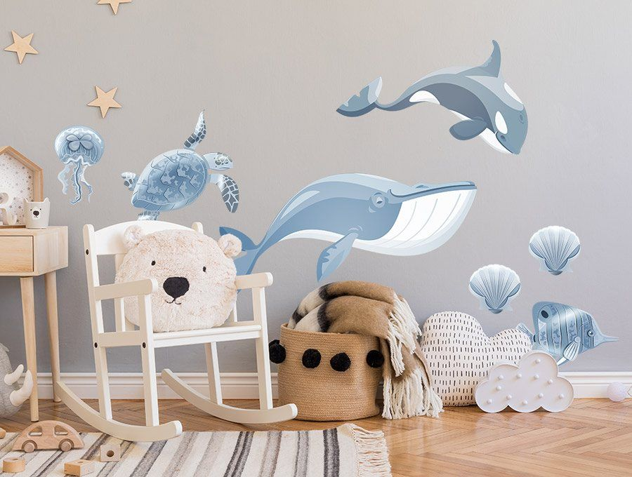 Naklejki Do Pokoju Dziecka Ocean Kids Wallpaper Ocean Wall Art Kids Room Wall Art