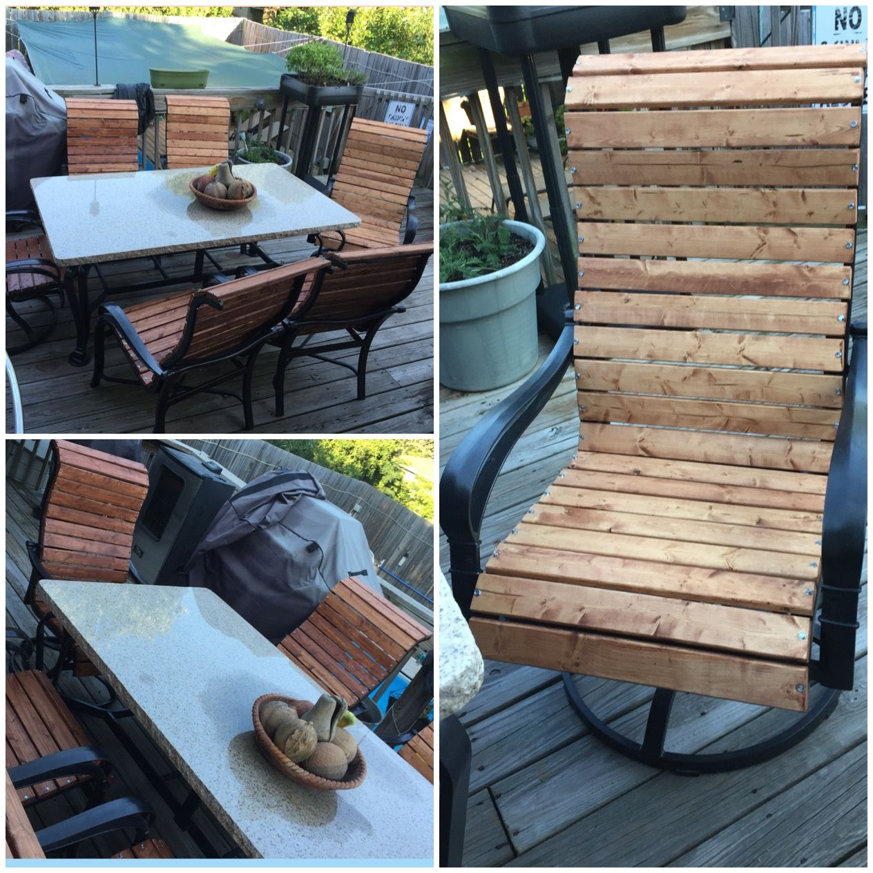 sling chair outdoor office top view patio makeover home sweet pinterest