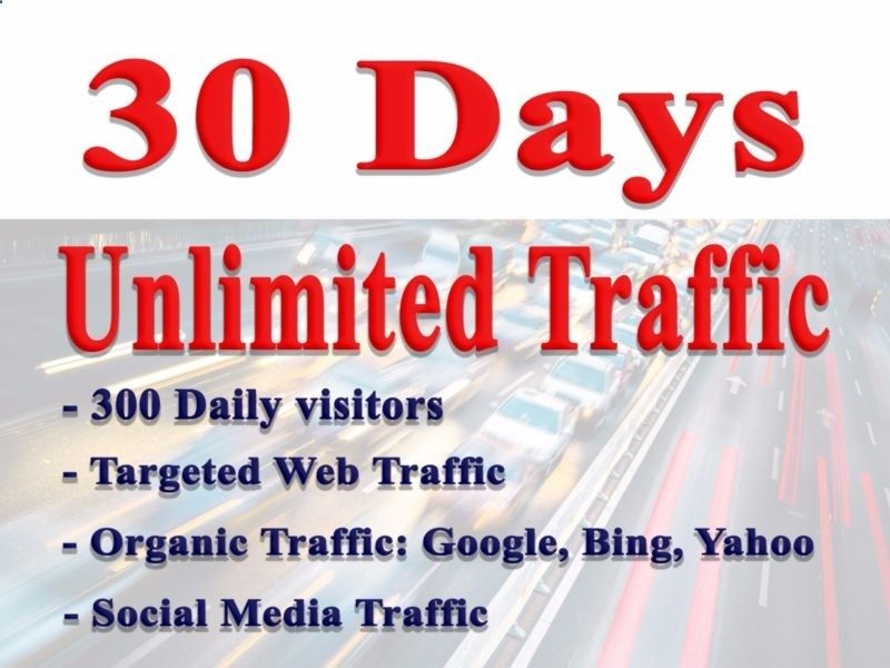 30 Days of Unique Unlimited Web Traffic views your website real human SEO #ad
