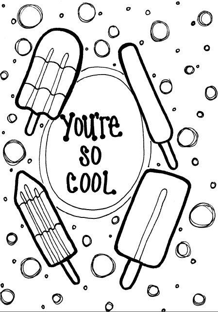 You Re So Cool Coloring Page By Doodlesbyjillian On Etsy