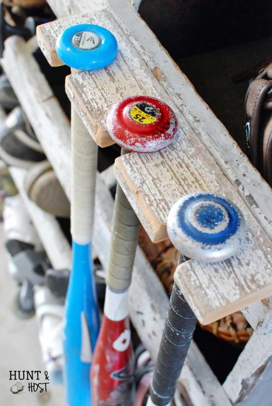 DIY Baseball Bat Rack Storage Solution Baseball crafts
