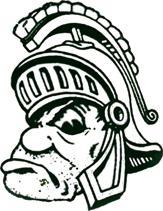 showing post media for cartoon michigan state spartans logo on michigan state football coloring pages
