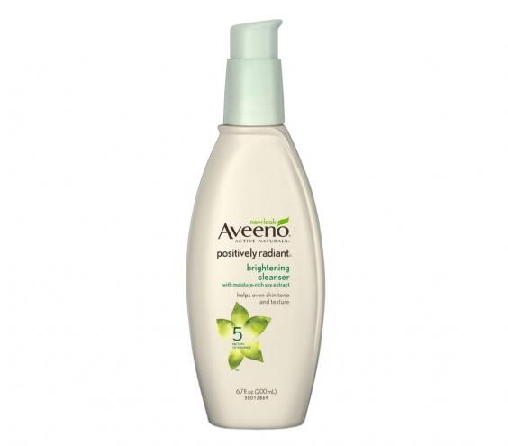 Aveeno Positively Radiant Brightening Cleanser | Has your skin lost its luster? Try this regimen (complete with dermatologist-approved picks) to get your glow back, fast.
