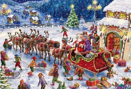 Start From Santa S Workshop Desktop Nexus Wallpapers Christmas Scenes Christmas Paintings Christmas Pictures