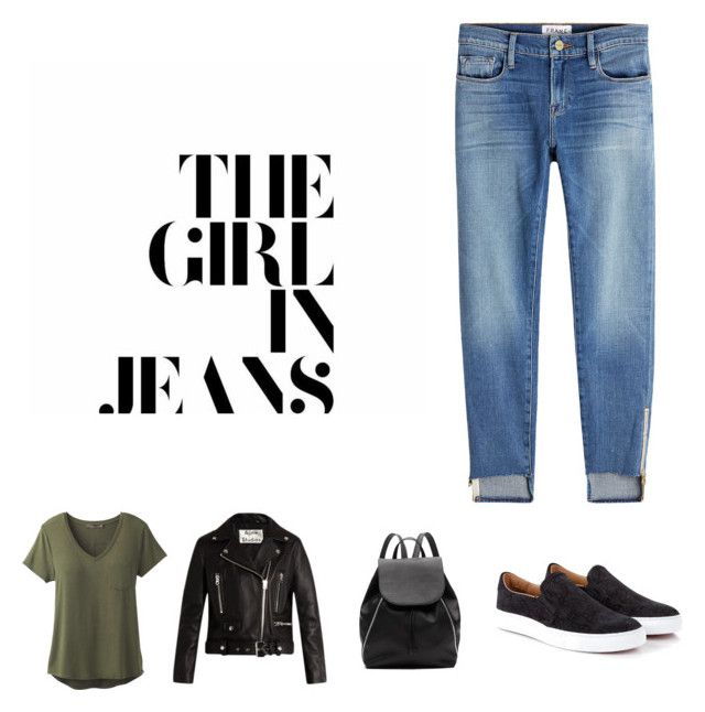 """Girl in Jeans"" by lipstick-and-loathing on Polyvore featuring Frame, prAna, Acne Studios, Vivienne Westwood and Witchery"