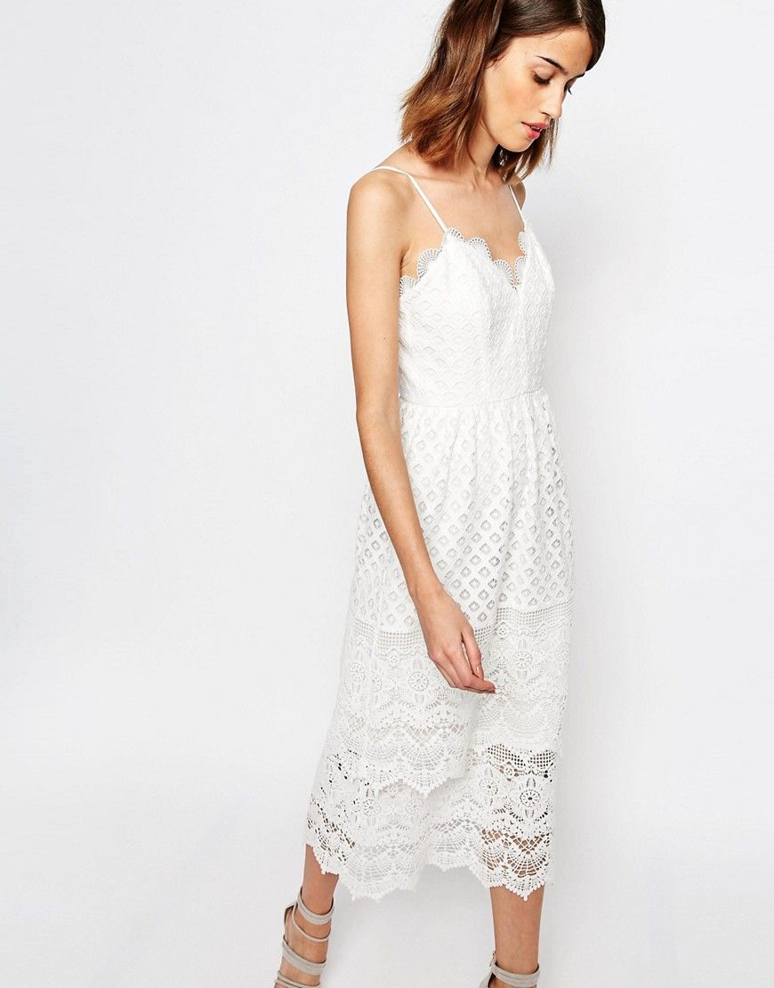 Image 1 of Warehouse Premium Lace Tiered Cami Dress | summer style ...