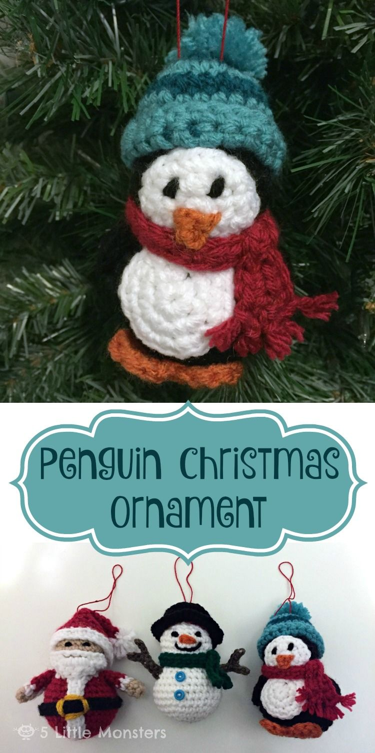 5 little monsters penguin christmas ornament christmas time 5 little monsters penguin christmas ornament crochet christmas ornamentsfree bankloansurffo Image collections