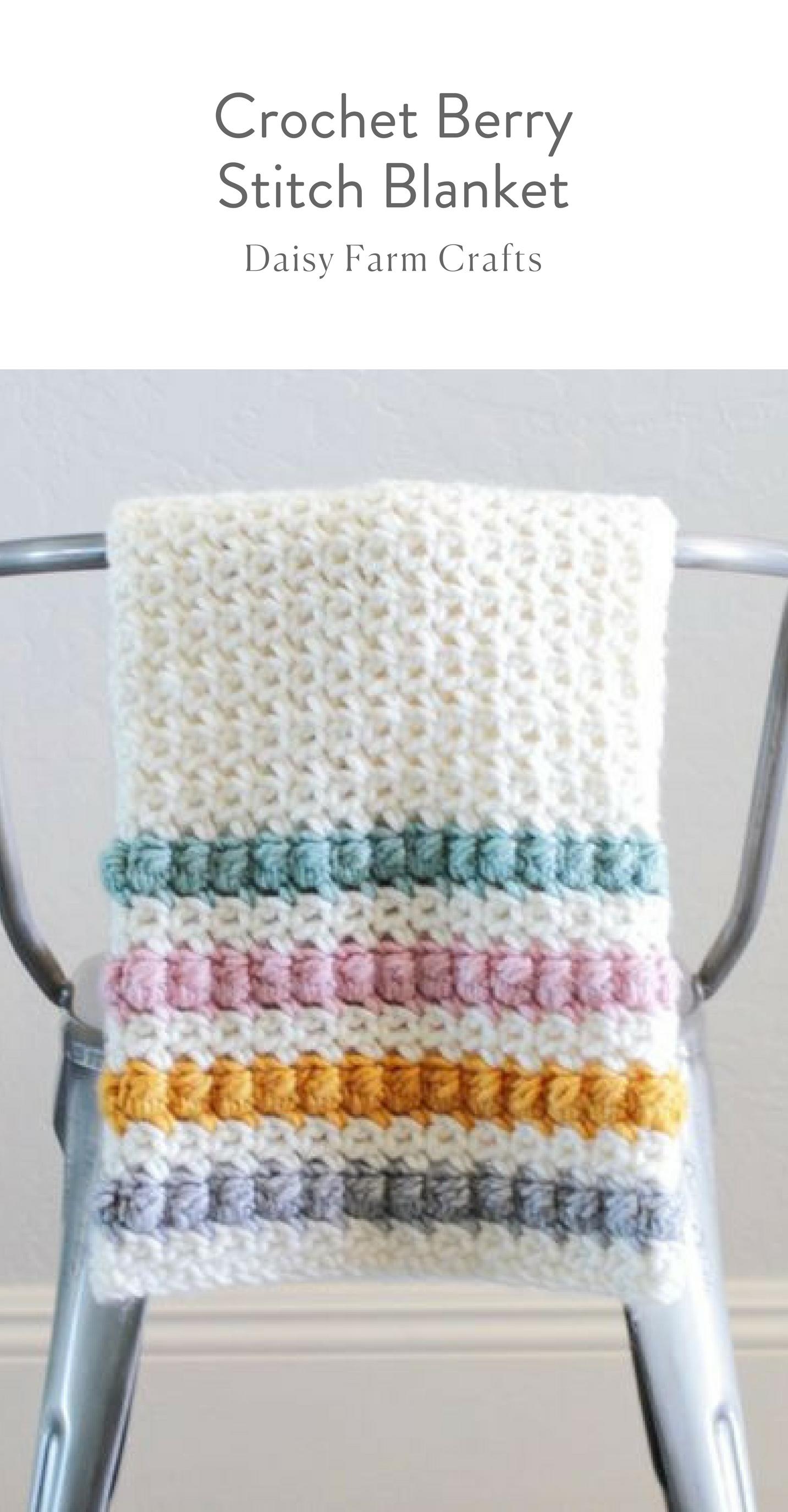 Free Pattern - Crochet Berry Stitch Blanket #moderncrochet ...