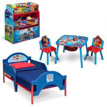 Nick Jr. PAW Patrol Bedroom Set with Bonus Toy Organizer, Multicolor ...