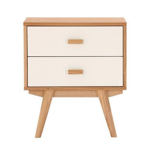 sofia bedside table 2 drawers scandinavian furniture. Black Bedroom Furniture Sets. Home Design Ideas