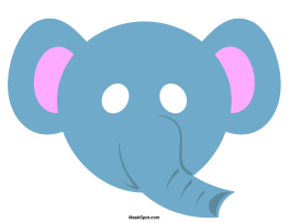 Elephant Mask Template There Is Also A Coloring Page Version Of The Free