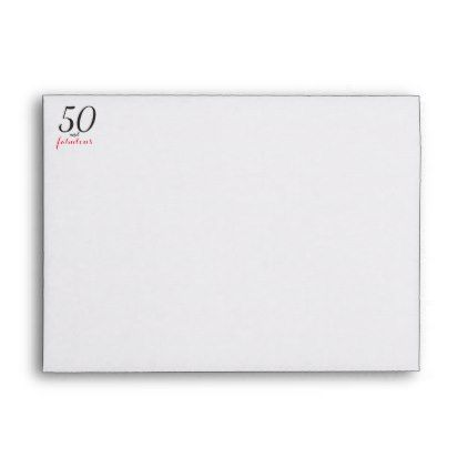 50 \ Fabulous 50th Birthday Return Address printed Envelope - sample a2 envelope template