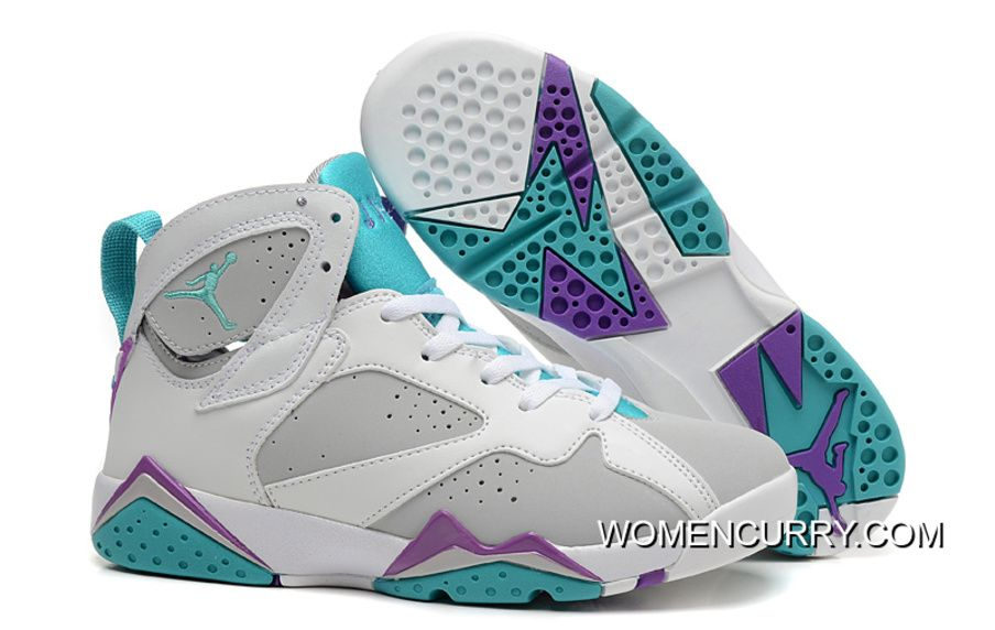 New Air Jordan 7 Retro White Gray Blue Best , Women Stephen Curry ...