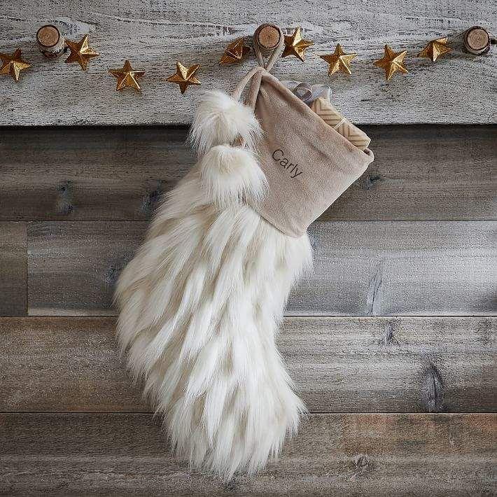 Llama Faux-Fur Stocking