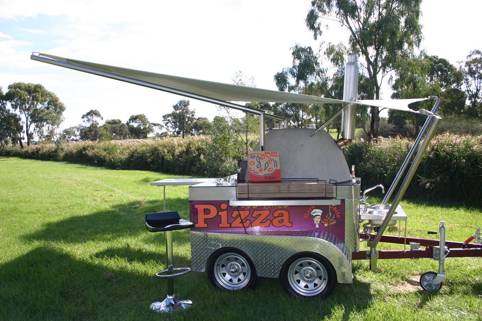 Portable wood fired pizza oven for sale - 1000 Images About The Travelling Roaster On Pinterest Restaurant Trailers For Sale And Pizza Party