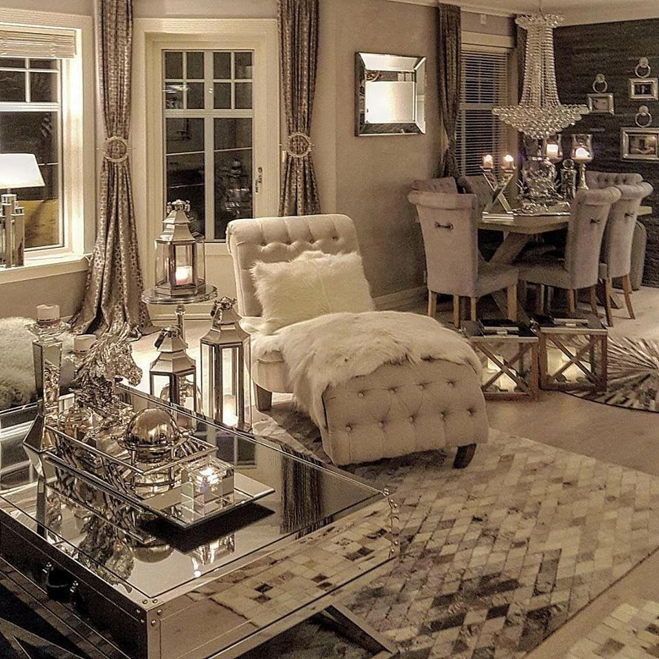 Love This Modern Glam Living Room Glamorous Living Room Decor Glamorous Living Room