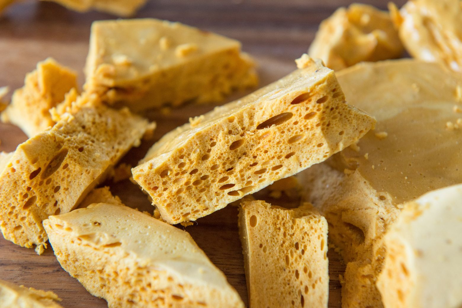 Homemade Honeycomb Candy