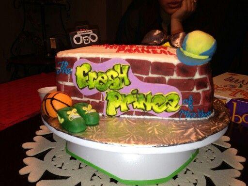 Fresh Prince Of Bel Air Cake Prince Birthday Party Prince Baby