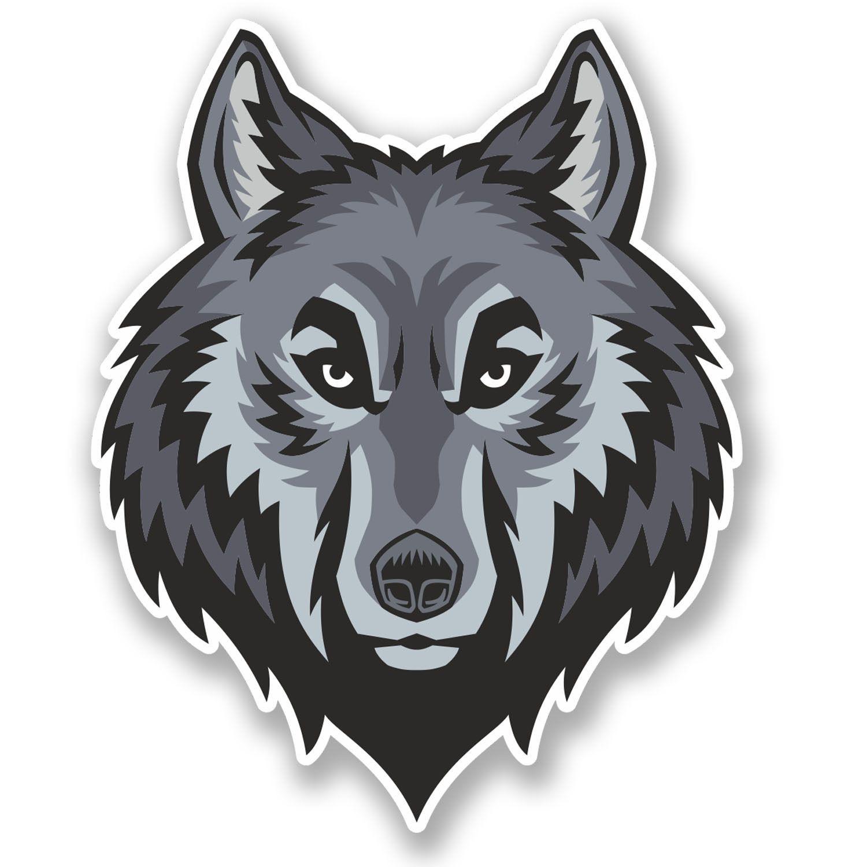 Angry Wolf Vinyl Sticker Car Window Motorcycle Motorbike Helmet Skateboard UK