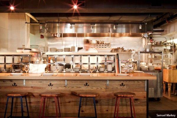 open kitchen  Oro  Pinterest  Decoration restaurant Bar and Restaurant