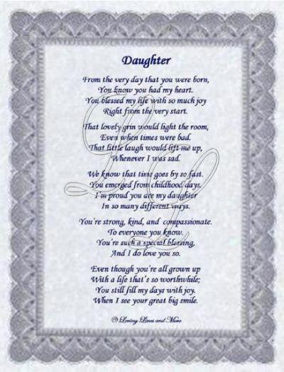 Beautiful Daughter Poems 5