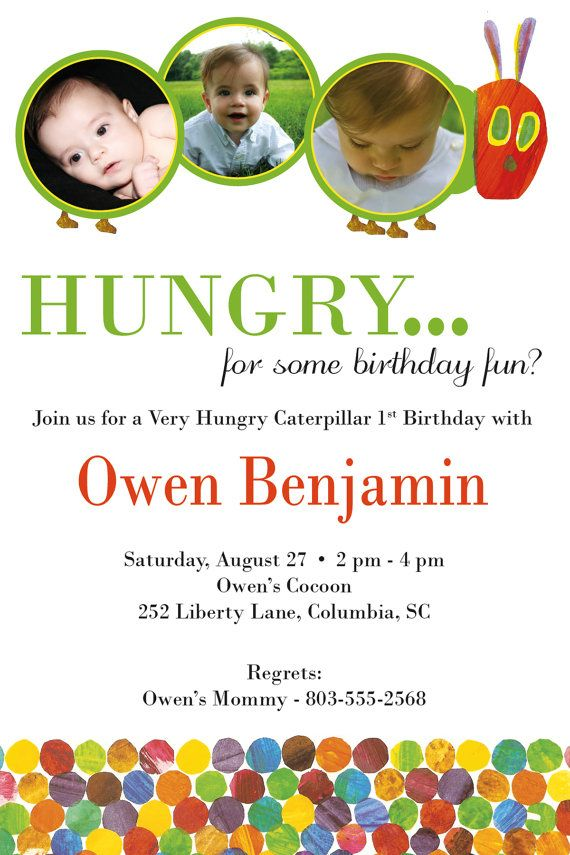 Very Hungry Caterpillar Invite | Future party ideas..for my son OR ...