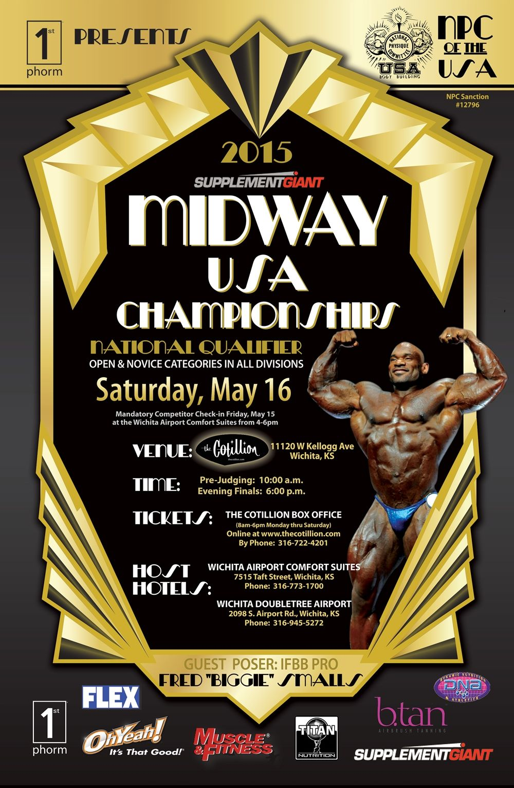 This Event Features Both National Qualifying And Novice Divisions The Host Hotels For This Event Are The Wichita Doubletree A Concert Flyer Wichita Midway Usa