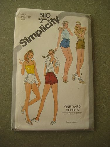 Completed Simplicity 60 Red Highwaisted Shorts Sewing Patterns Mesmerizing High Waisted Shorts Pattern
