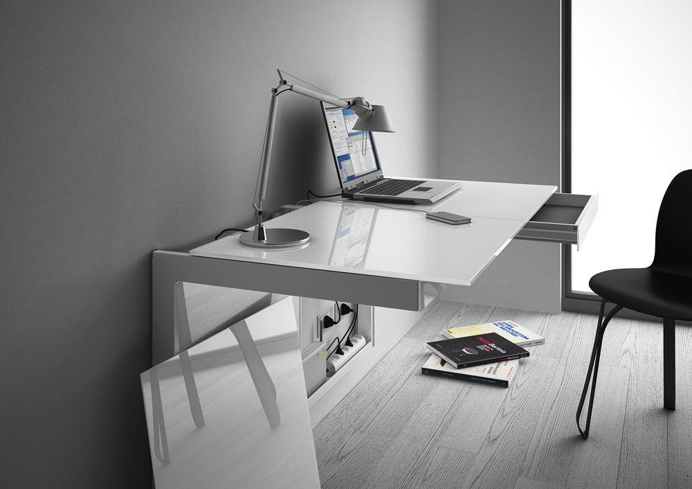 Scrivanie e scrittoi scrivania clematis di al design mirco zanini anno with scrivanie vetro - Scrivanie ikea vetro ...