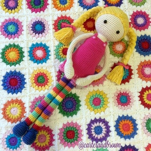 crochet doll by carter_and_brown from 100+ Inspiring #Crochet Photos
